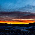 Fire In The Sky - Steamboat Sunset by Casey Barnett
