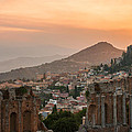 Fire Over Taormina City by Gurgen Bakhshetsyan