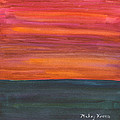 Fire Sky Over The Sea by Mickey Krause