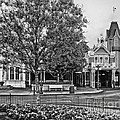 Fire Station Main Street In Black And White Walt Disney World by Thomas Woolworth