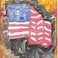 Fire Storm Flag by Richard Mangino