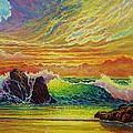Fire Storm Sunset by Joseph   Ruff