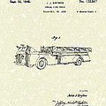 Fire Truck 1940 Patent Art by Prior Art Design