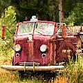 Fire Truck Digital Painted by Mary Jo Allen