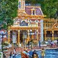 Fire Truck Main Street Disneyland Photo Art 02 by Thomas Woolworth