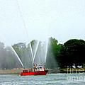 Fireboat Water Show On Long Island Sound by Dora Sofia Caputo Photographic Design and Fine Art