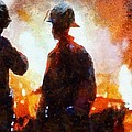 Firefighters At The Scene by Dan Sproul