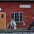 Train Station Mural Sultan Washington 3 by Bob Christopher