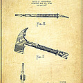 Fireman Axe Patent drawing from 1940 - Vintage by Aged Pixel