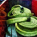 Fireman - Coiled Fire Hoses by Susan Savad
