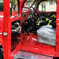 Fireman - Fire Truck With Fireman's Uniform by Susan Savad