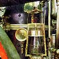 Fireman - Lantern On Fire Truck by Susan Savad