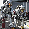 Firemen Confirm A Simulated Fire by Stocktrek Images