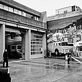 firemen hosing down Vancouver fire rescue services hall 2 in downtown eastside  BC Canada by Joe Fox