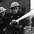 Firemen Training In A Combined War by Everett