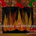 Fireplace - Seasons Greetings by Barbara Griffin