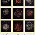 Fireworks - White Background by Scott Hervieux