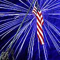 Fireworks At Iwo Jima Memorial by Francesa Miller