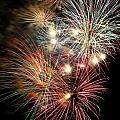 Fireworks Finale At St Albans Bay by R B Harper