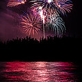 Fireworks In The Country - Pink by Justin Martinez