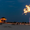 Fireworks On Ther Beach by Denis Therien