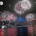 Fireworks Over Detroit by Michael Rucker
