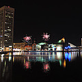 Fireworks Over Downtown Baltimore by Cityscape Photography