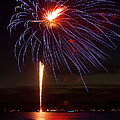 Fireworks Over Lake by Raymond Earley