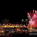 Fireworks Over The Kansas City Plaza Lights by Catherine Sherman