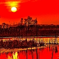 Firey Dawn Over The Marsh by Nick Zelinsky