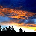 Firey Sunset Of Angel Fire by Cynthia Croal