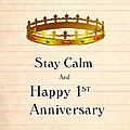 First Anniversary by Florene Welebny