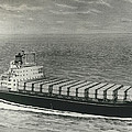 First Container Ship In Japan by Retro Images Archive
