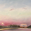Obama Inaugural Sunset by William Van Doren