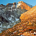 First Light At Longs Peak by Eric Glaser