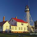 First Light At Whitefish Point by David N. Davis