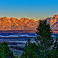 First Light On The Tetons by Greg Norrell