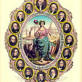 First Sixteen Usa Presidents 1861 by Padre Art