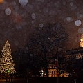 First Snow At Michigan State Capital by Dave Zuker