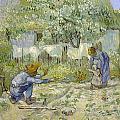 First Steps - After Millet by Vincent van Gogh