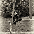 First Time on Stilts at White Pine Village in Ludington Michigan