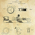 First True Motion Picture Projector Patent  1897 by Daniel Hagerman
