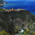 First View Corniglia by Lisa Redfern