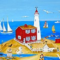 Fisgard Lighthouse by Virginia Ann Hemingson