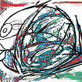 Fish Morden Art Drawing Painting by Kim Wang