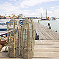 Fish Trap On Jetty In Penang by Jit Lim