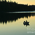 Fisherman At Dusk by Nancy Harrison