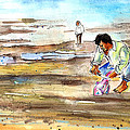 Fisherman On Las Canteras Beach by Miki De Goodaboom