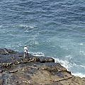 Fisherman On Remore Reef by Joe Belanger