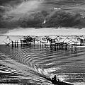 Fisherman Returns Home by Kim Pin Tan